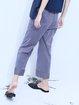 Blue H-line Cotton Work Wide Leg Pants