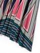 Green Boho Stripes Midi Dress
