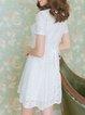 White Sweet Floral Chiffon Mini Dress
