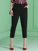 Black Work Polyester Skinny Leg Pants