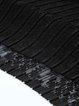 Black A-line Lace Pleated Elegant Midi Skirt