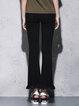 Black H-line Casual Cotton Straight Leg Pants
