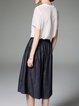 Black Cotton Pockets Casual Wide Leg Pants