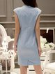 Sky Blue Short Sleeve Sheath Mini Dress