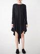 Black Casual Cotton Midi Dress