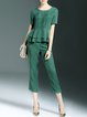 Green Simple Two Piece Jumpsuit
