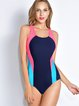 Multicolor Padded Scoop Neckline One-Piece