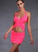 Pink Padded Ruched One-Piece