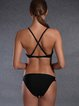 Black Color-block Straped Wireless Bikini