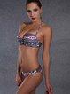 Printed Geometric Bralette Nylon Bikini