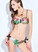 Multicolor Animal Print Printed Bikini