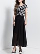 Black Chiffon Beach Maxi Dress