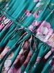 A-line Silk Short Sleeve Crew Neck Vintage Mini Dress