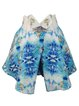 Blue Polyester Statement Printed Culottes Pants