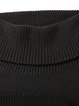 Black H-line Casual Turtleneck Tunic