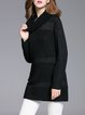 Black H-line Casual Turtleneck Tunic