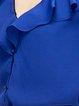 Blue Ruffled Simple Blouse