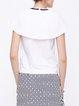 White Simple Cotton H-line Blouse