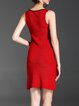Sleeveless Knitted Simple Sheath Mini Dress