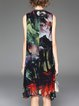 Printed A-line Sleeveless Resort Midi Dress