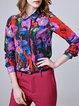 Long Sleeve Silk Statement Shirt Collar Blouse