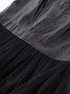 Paneled Sleeveless Crew Neck Statement Mesh Midi Dress