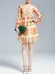 Shift Long Sleeve Casual Pierced Mini Dress