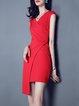 Red Simple Sheath Mini Dress