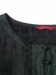 Black Linen Plain Casual Short Sleeved Top