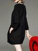 Black Plain Pockets Casual Mini Dress