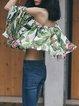 Floral Print Off Shoulder Beach 3/4 Sleeve Blouse
