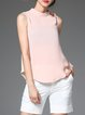 Pink Sleeveless High Low T-Shirt