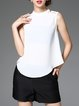 Sleeveless Stand Collar Casual T-Shirt