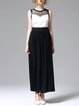 Black Cocktail Polyester Maxi Dress