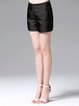 Black Cotton Simple Shorts