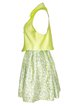 Green Cotton Spaghetti Two Piece Mini Dress