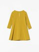 Yellow Pockets Casual Mini Dress