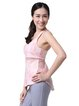 Pink Polyester Breathable Top (Sportswear for Yoga)