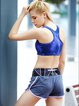 Blue Push up Stretchy Nylon Wearable Sports Bra (Sportswear for Running)