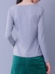 Long Sleeve Cotton H-line Casual T-Shirt