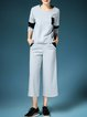 Gray 3/4 Sleeve Paneled Two Piece Jumpsuits