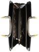 Black Cowhide Leather Zipper Work Top Handle
