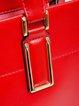 Red Medium Cowhide Leather Top Handle