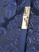 Blue Embossed Evening Small Cowhide Leather Top Handle