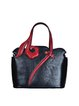Black Cowhide Leather Large Retro Tote