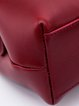 Wine Red Casual Cowhide Leather Small Satchel