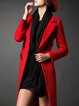 Casual Lapel H-line Long Sleeve Wool Blend Coat