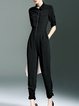 Plain Simple Half Sleeve Jumpsuit