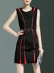 Simple Sleeveless A-line Polyester Mini Dress
