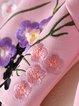 Balloon Sleeve Skater Embroidered Elegant Cotton-blend Mini Dress